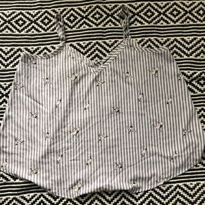 Preowned Torrid striped bird tank top size 0